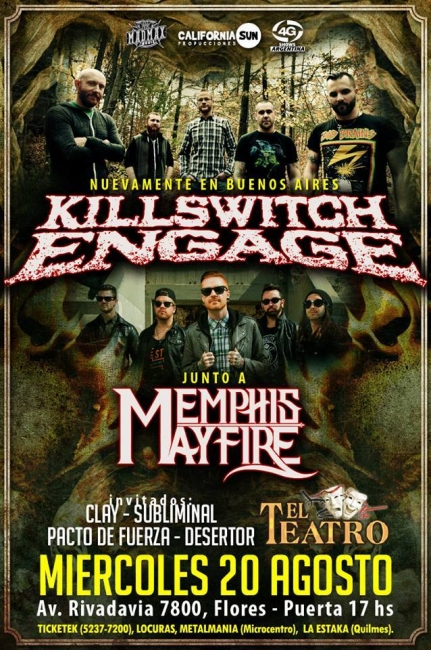 Vuelve Killswith Engage con Memphis May Fire